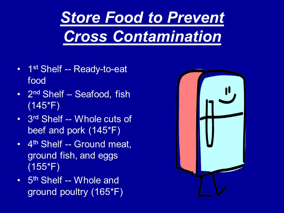 Store Food to Prevent Cross Contamination