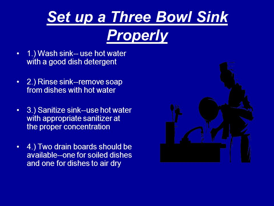 Set up a Three Bowl Sink Properly