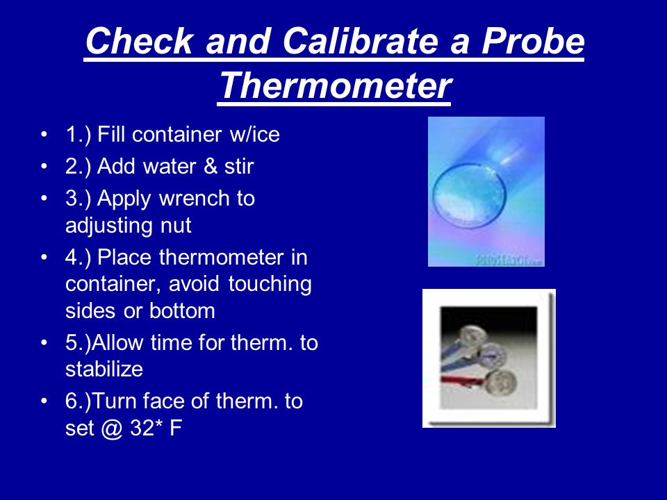 Check and Calibrate a Probe Thermometer