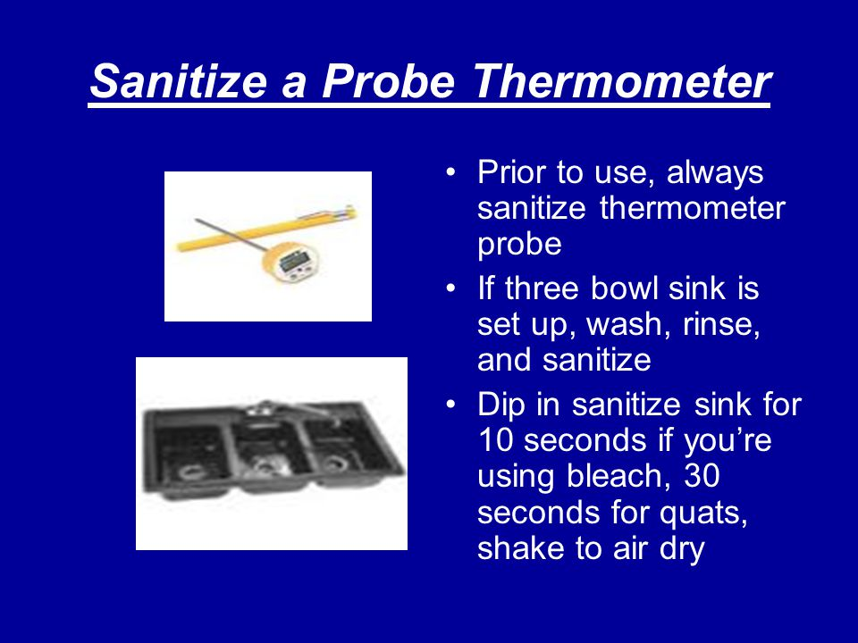 Sanitize a Probe Thermometer