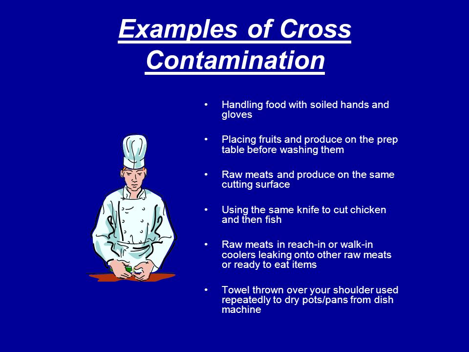 Examples of Cross Contamination