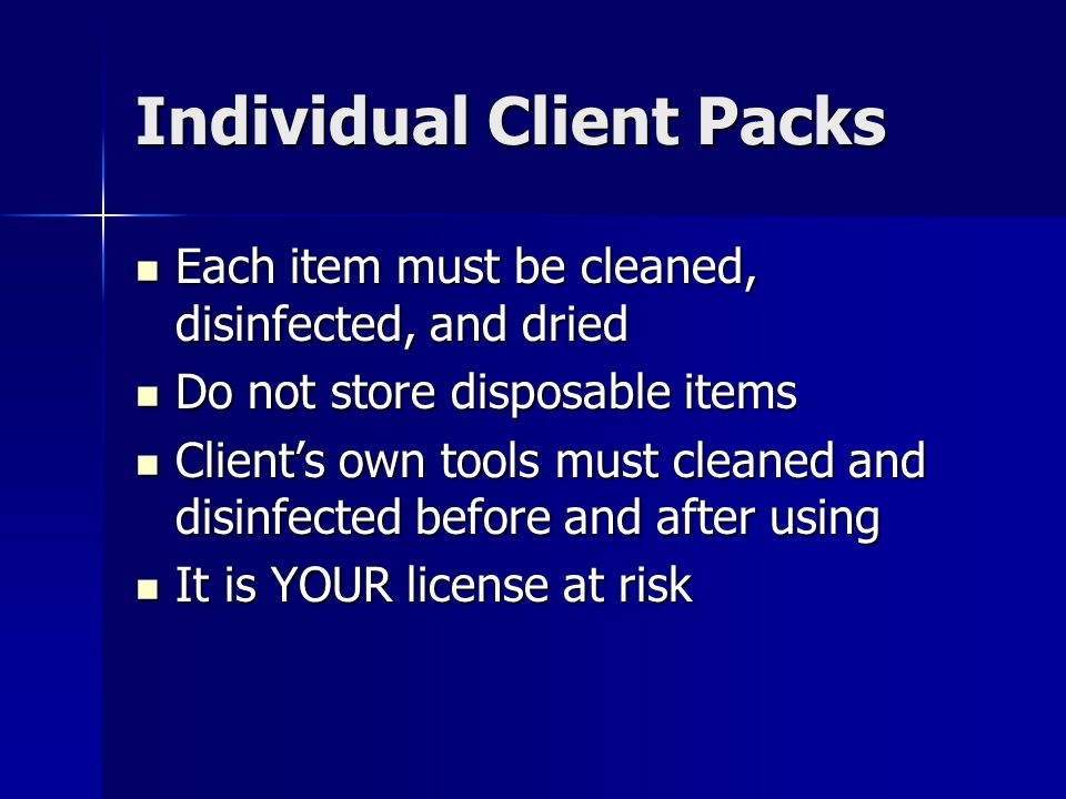 Individual Client Packs