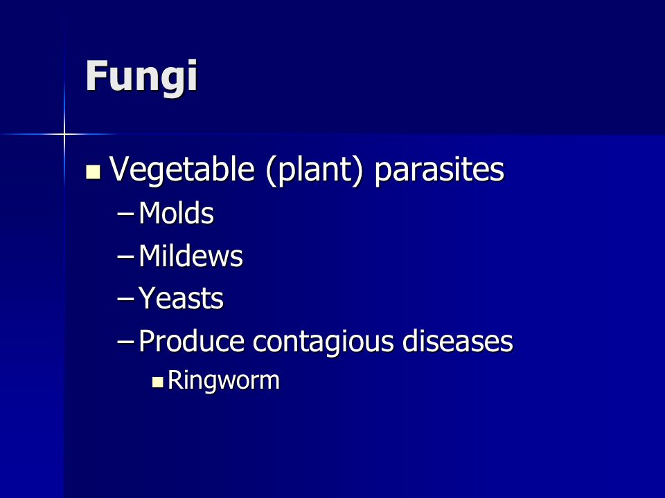 Fungi Vegetable (plant) parasites Molds Mildews Yeasts