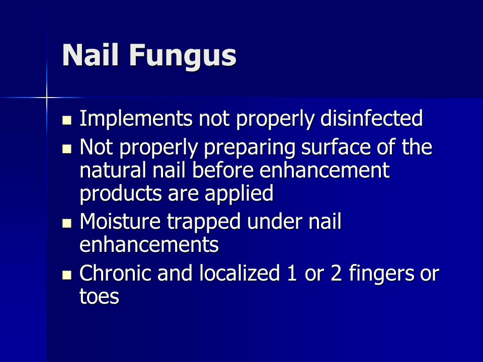 Nail Fungus Implements not properly disinfected