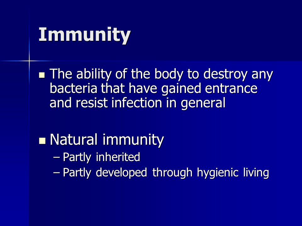 Immunity Natural immunity