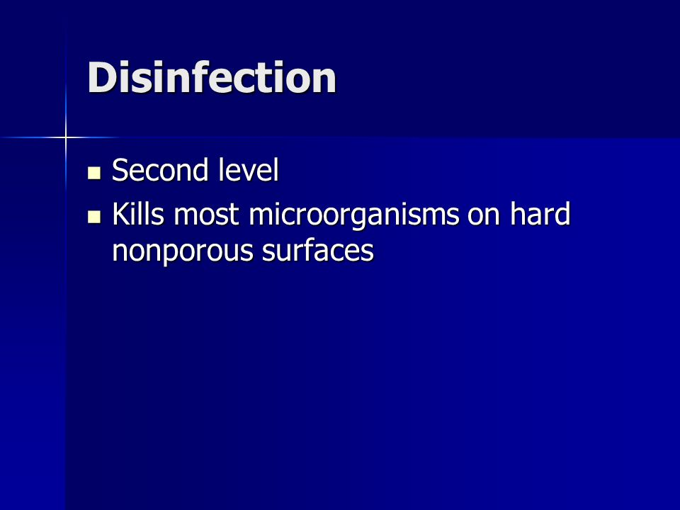 Disinfection Second level