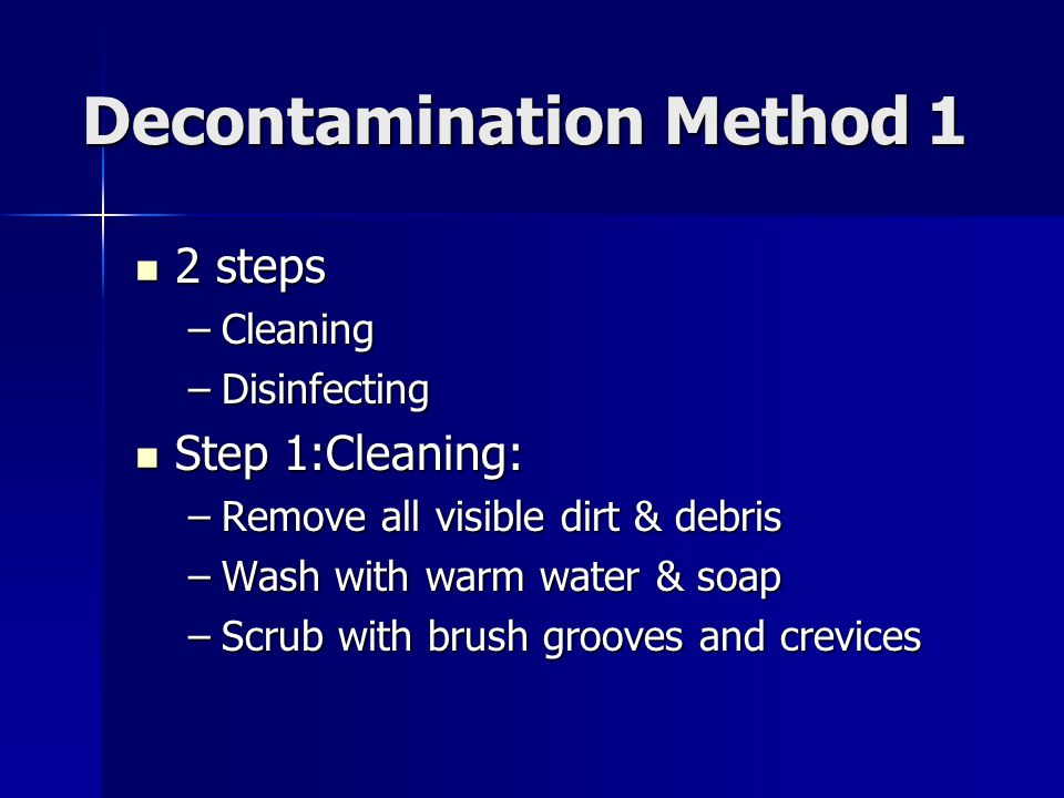 Decontamination Method 1