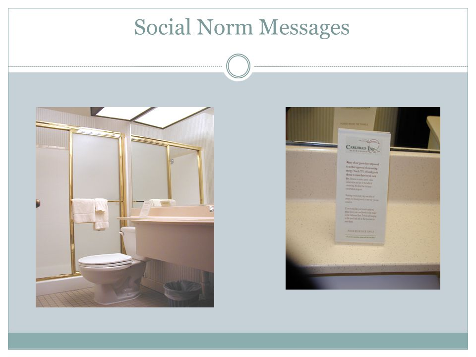 Social Norm Messages -By July 15th, the signs were ready to go in the rooms.
