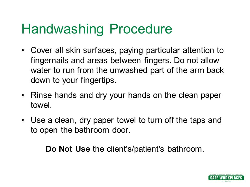 Infection control hand washing essay