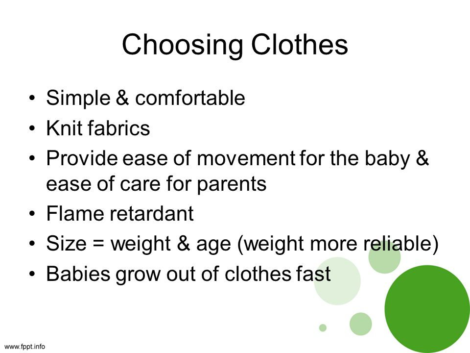 Choosing Clothes Simple & comfortable Knit fabrics