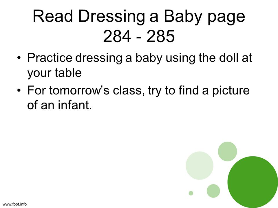 Read Dressing a Baby page 284 - 285