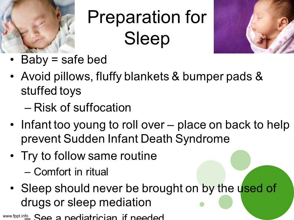 Preparation for Sleep Baby = safe bed