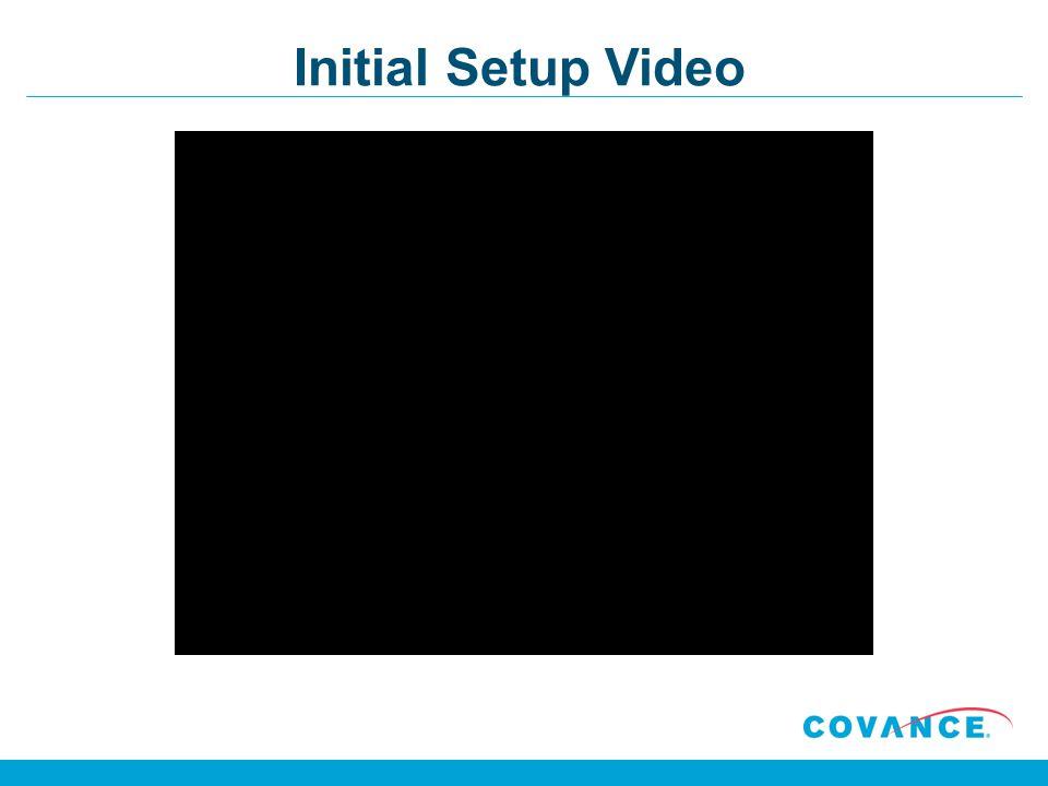 Initial Setup Video