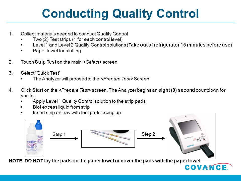 Conducting Quality Control