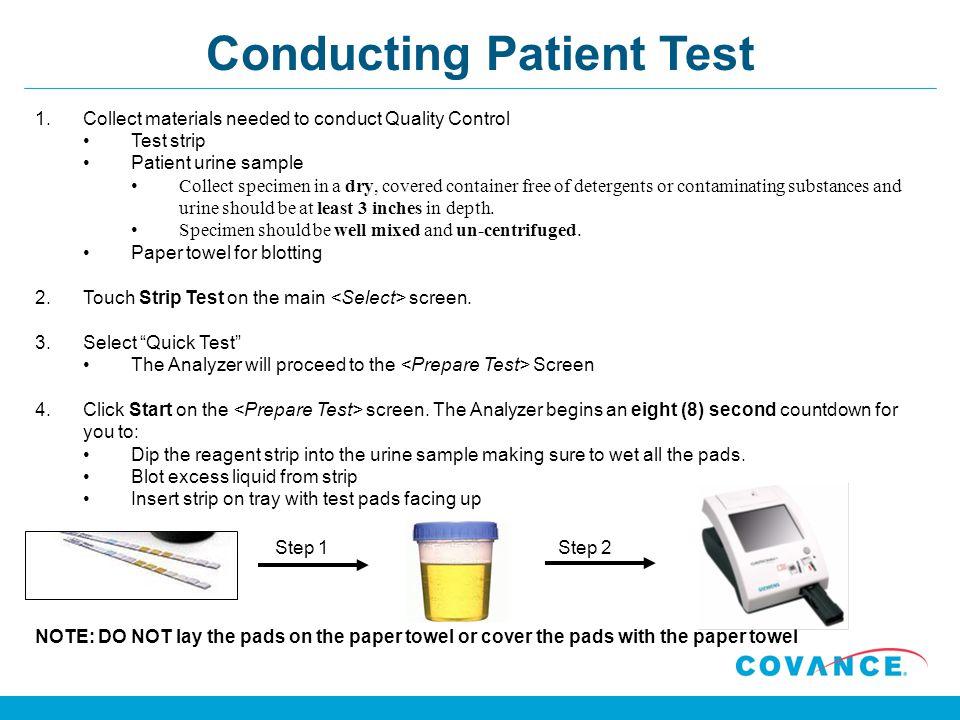 Conducting Patient Test
