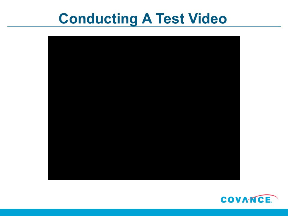 Conducting A Test Video