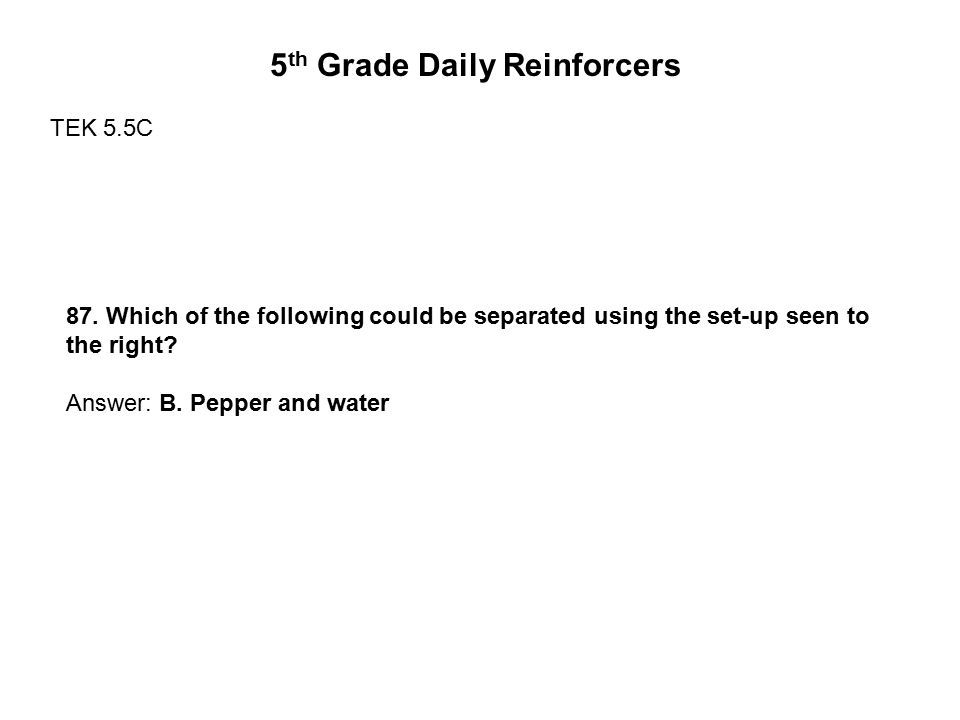 5th Grade Daily Reinforcers