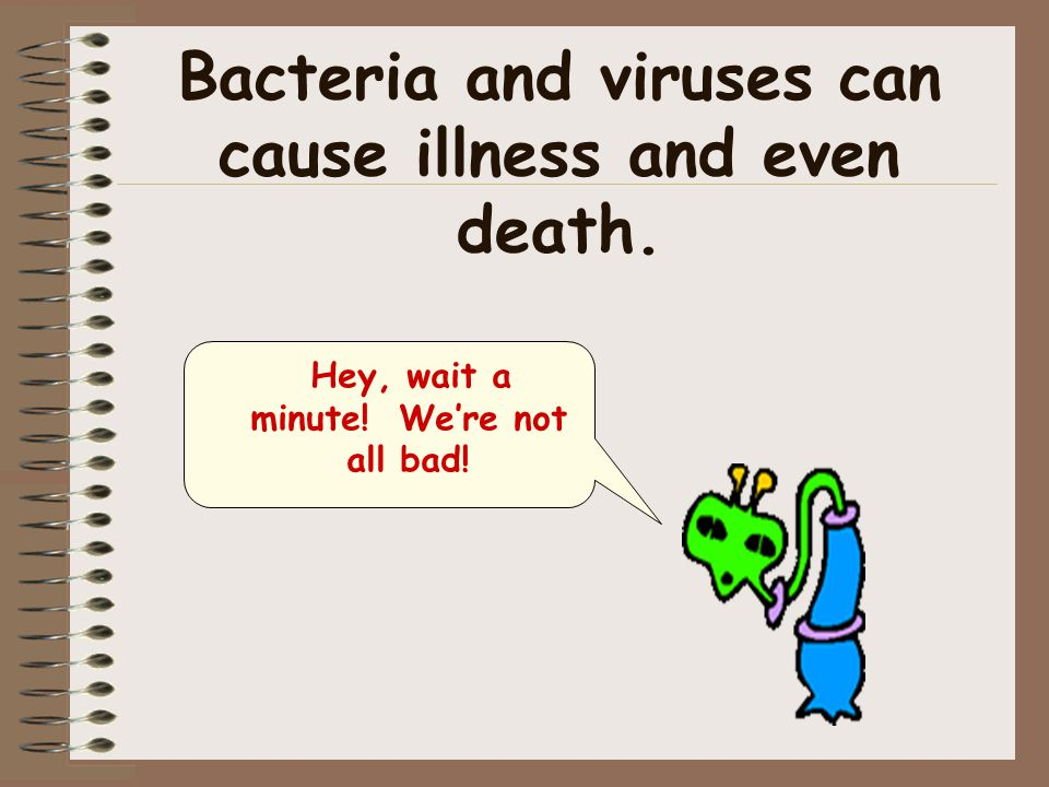 Bacteria and viruses can cause illness and even death.