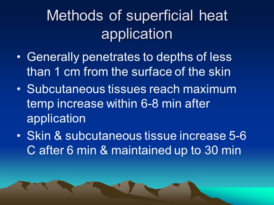 Methods of superficial heat application