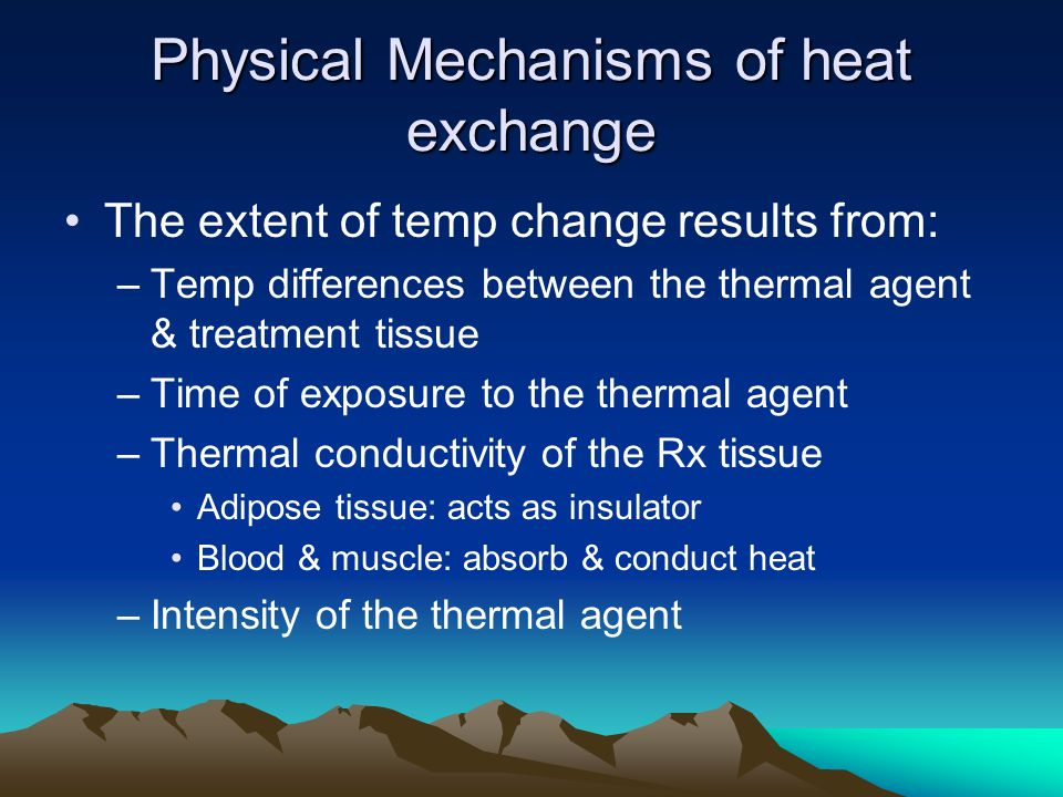 Physical Mechanisms of heat exchange