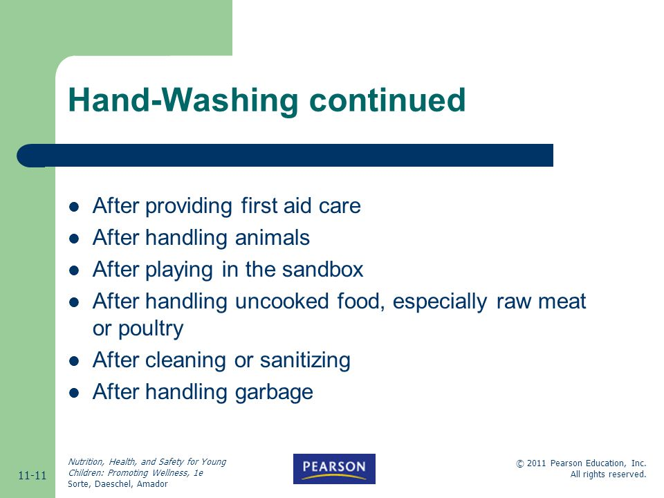 Hand-Washing continued