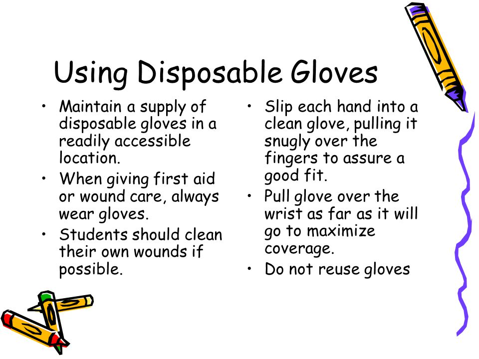 Using Disposable Gloves