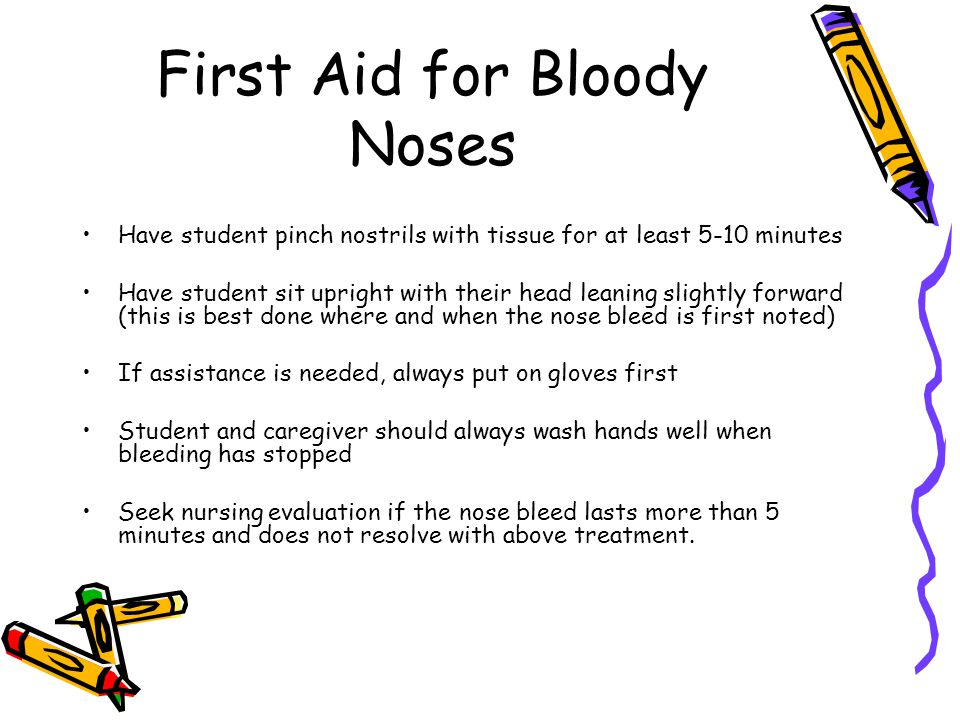 First Aid for Bloody Noses