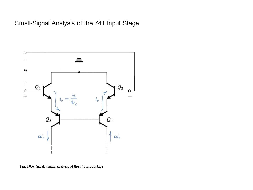 Small-Signal Analysis of the 741 Input Stage