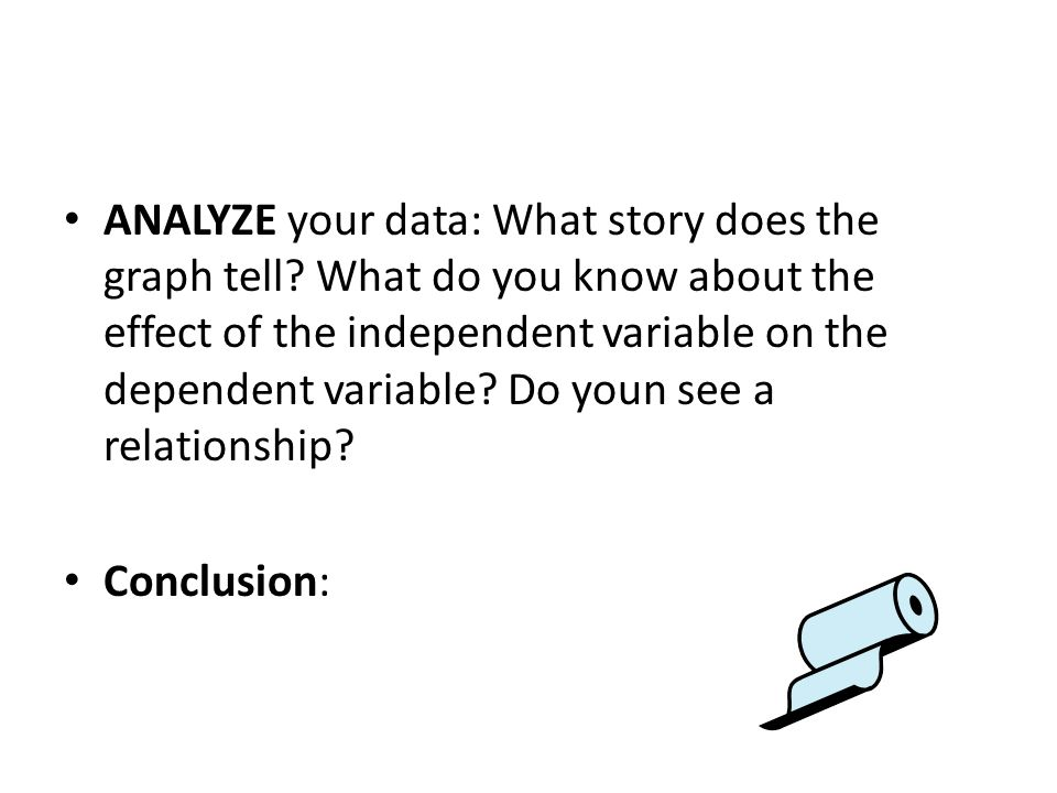 ANALYZE your data: What story does the graph tell