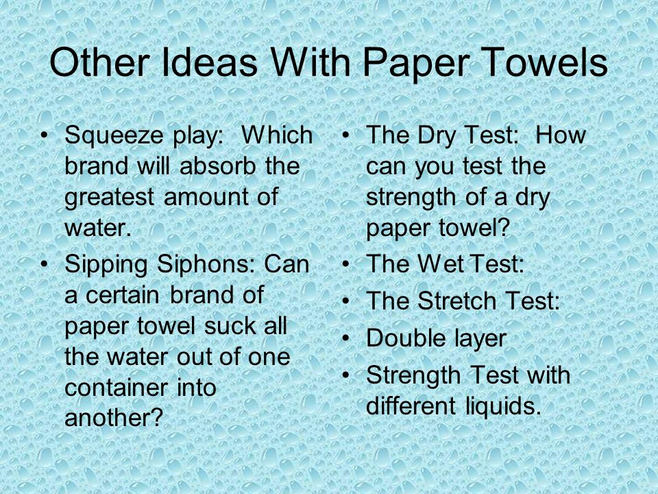 Other Ideas With Paper Towels