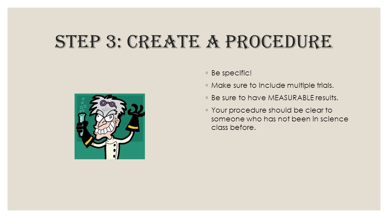 step 3: create a procedure