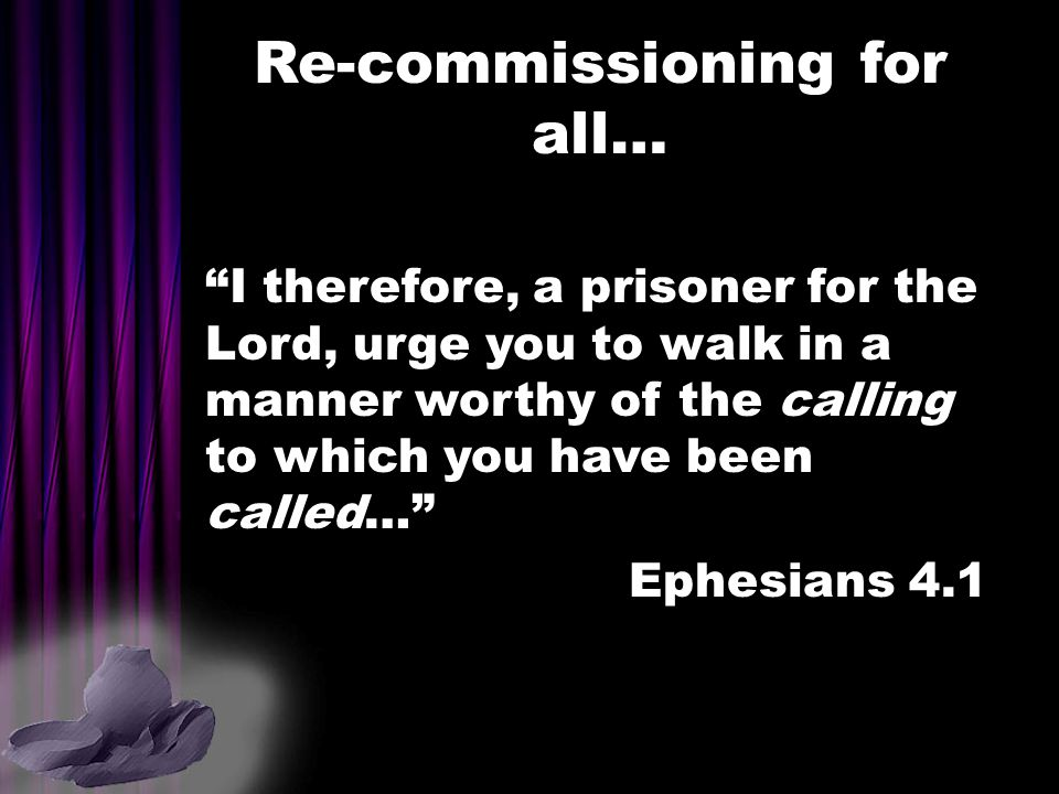Re-commissioning for all…