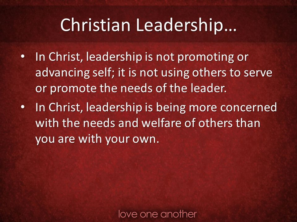 Christian Leadership…