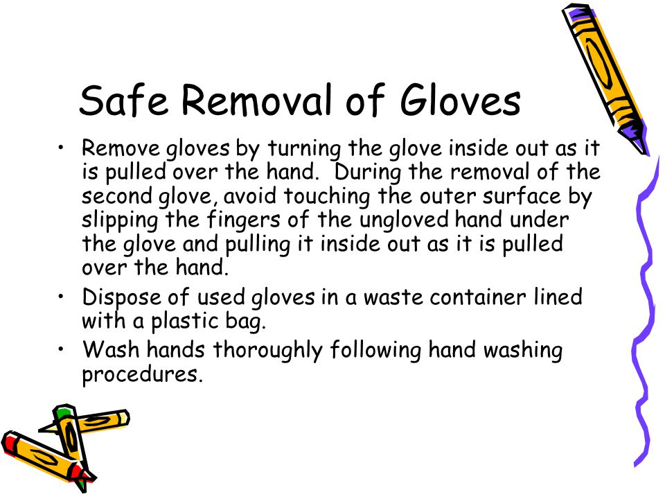 Safe Removal of Gloves