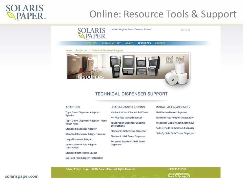 Online: Resource Tools & Support