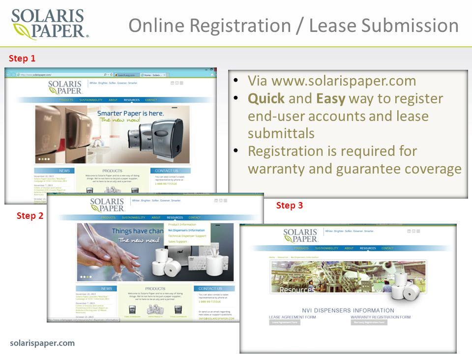 Online Registration / Lease Submission