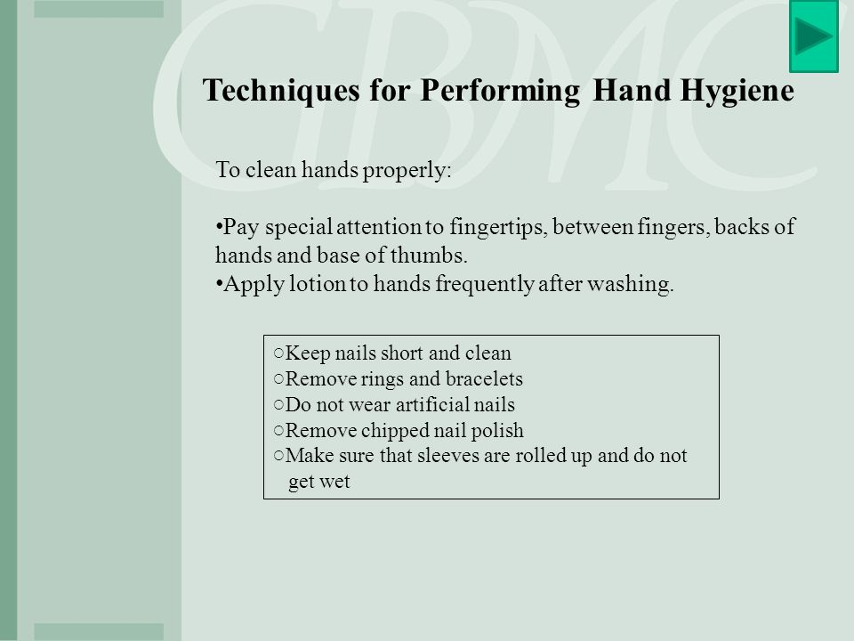 Techniques for Performing Hand Hygiene