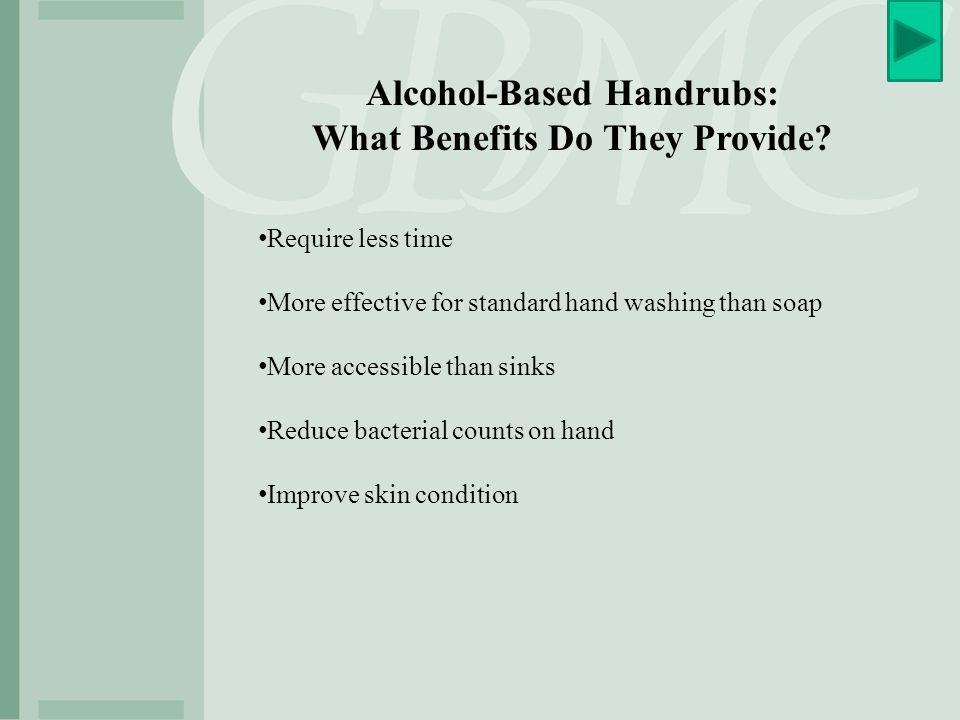 Alcohol-Based Handrubs: What Benefits Do They Provide
