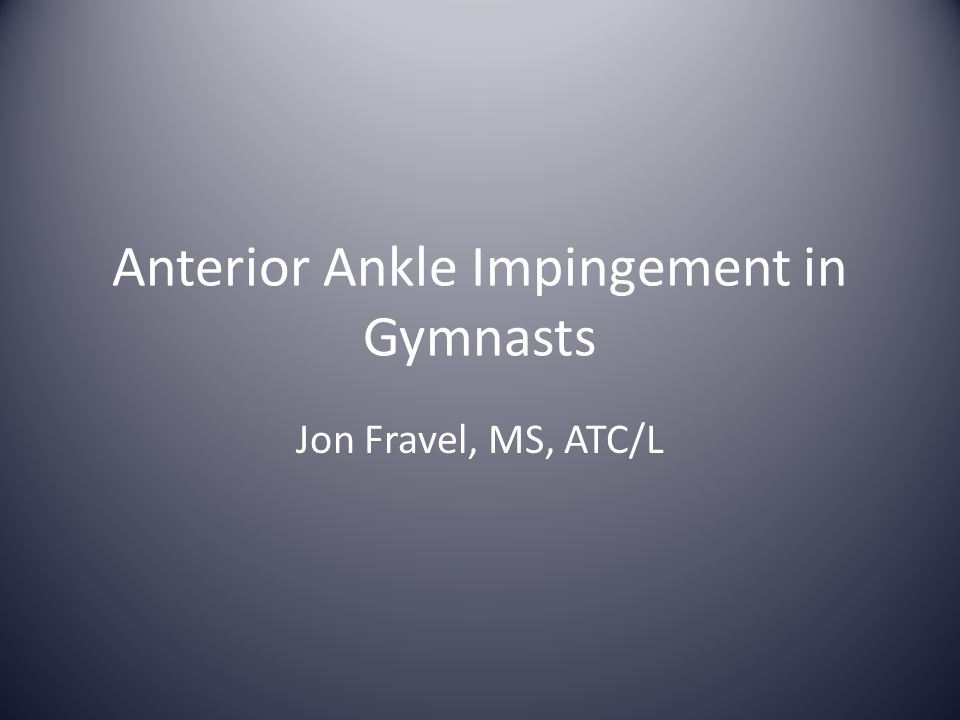 Anterior Ankle Impingement in Gymnasts