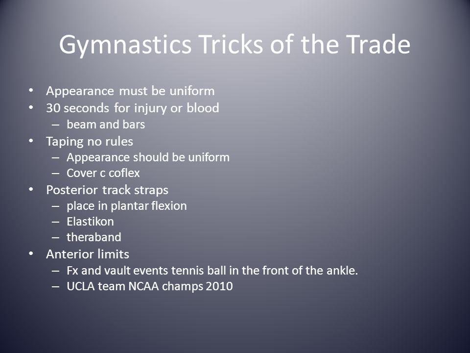 Gymnastics Tricks of the Trade