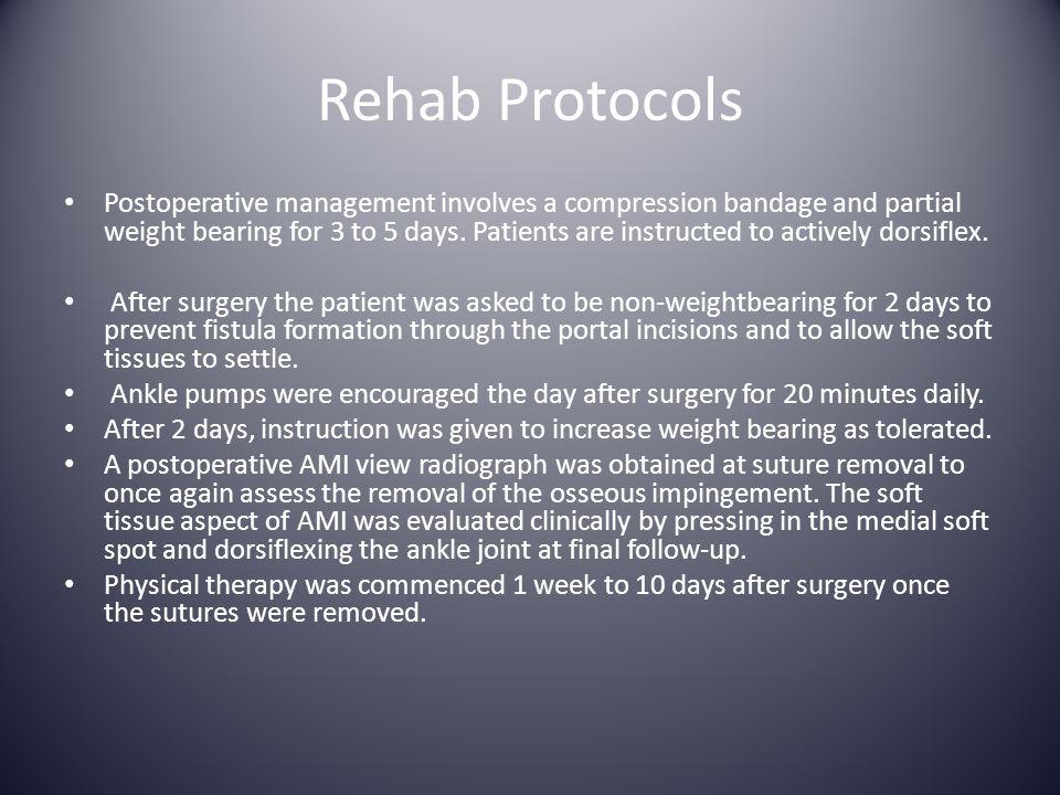 Rehab Protocols