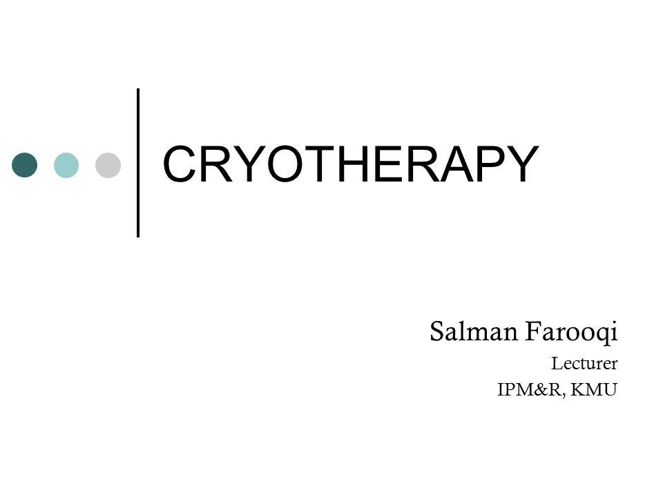 Salman Farooqi Lecturer IPM&R, KMU