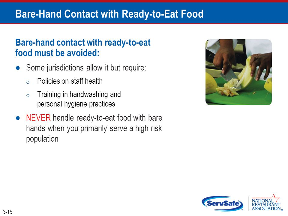 Bare-Hand Contact with Ready-to-Eat Food