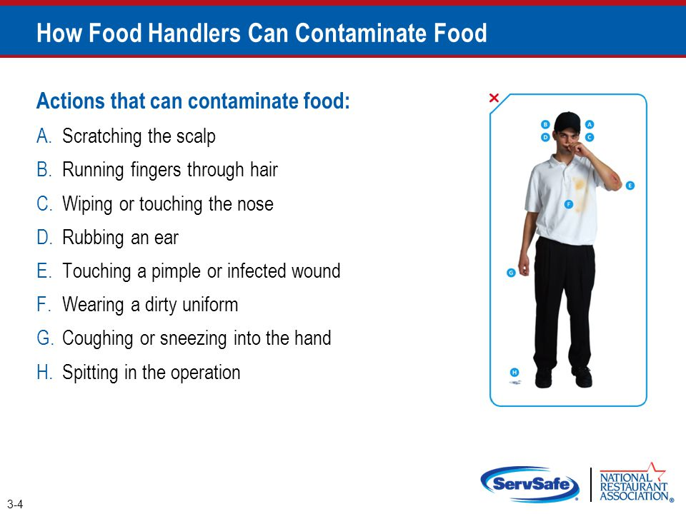 When Can Food Handlers Contaminate Food