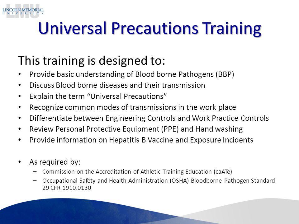 Universal Precautions Training