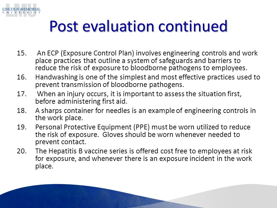 Bloodborne pathogens atep annual training ppt video for Bloodborne pathogens policy template