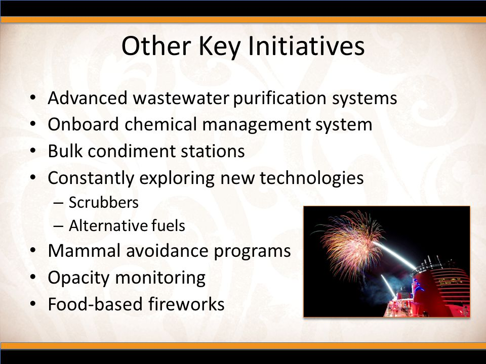Other Key Initiatives Advanced wastewater purification systems