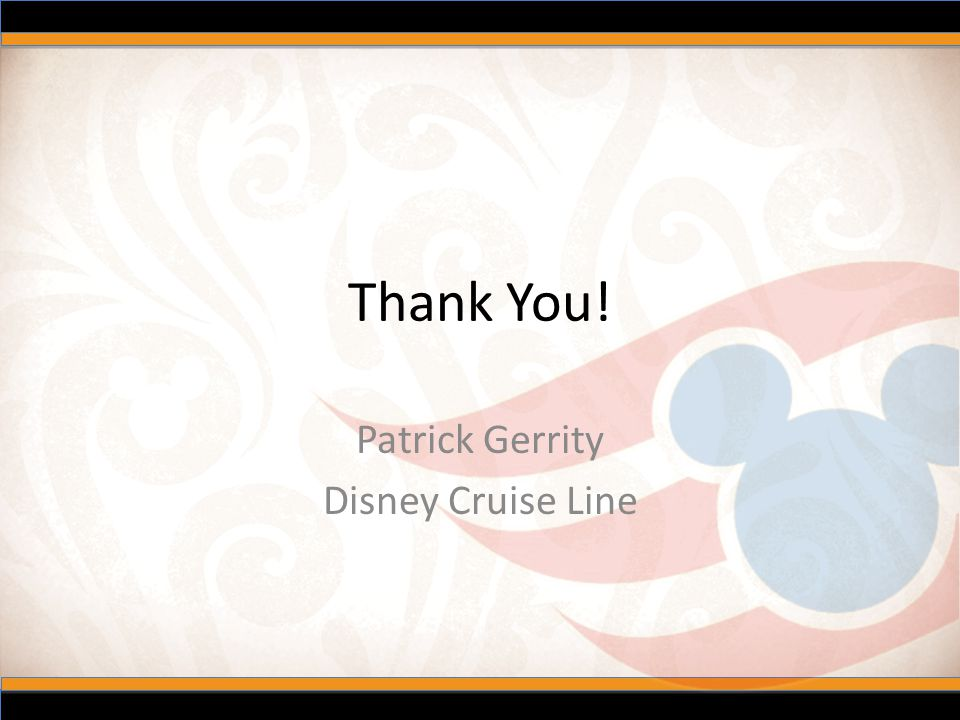 Patrick Gerrity Disney Cruise Line
