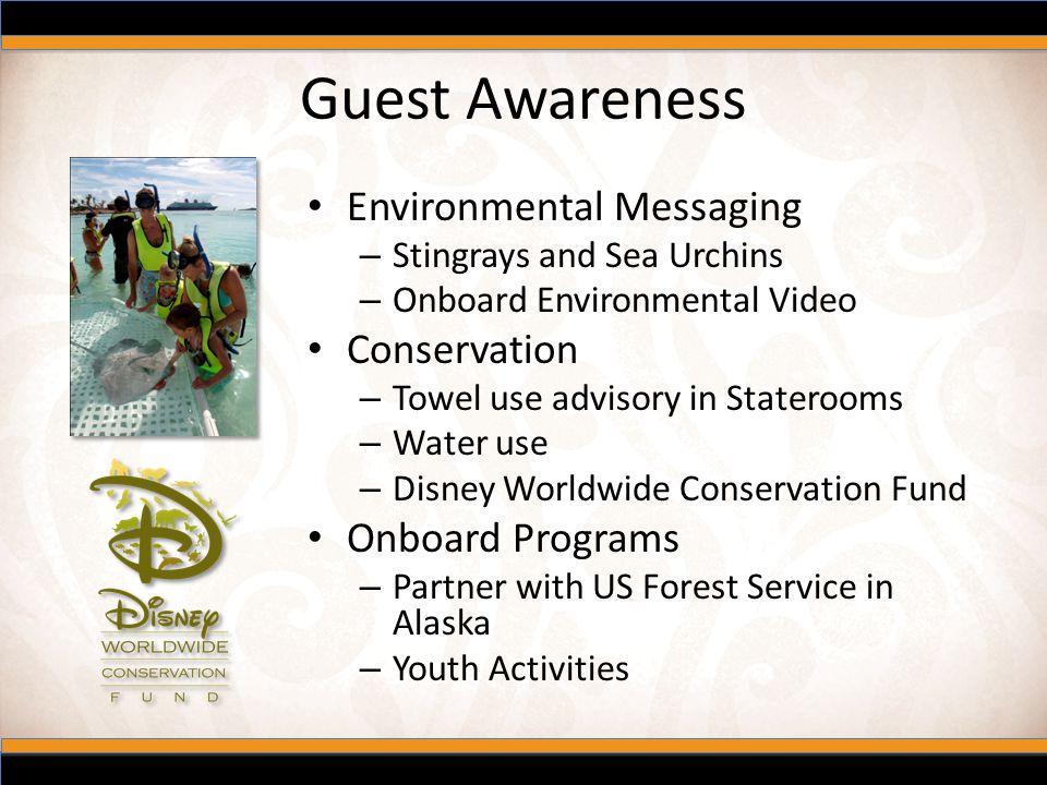 Guest Awareness Environmental Messaging Conservation Onboard Programs