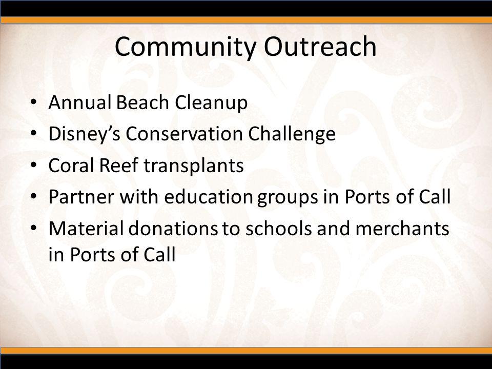 Community Outreach Annual Beach Cleanup